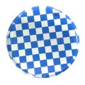 Blue Checkerboard Flesh Plug