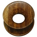 Concave Teak Wood Flesh Tunnel