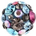 Epoxy Coated Crystalline Jeweled Ball - Aqua
