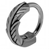 Black Rhodium Plated Surgical Steel Helix Ring