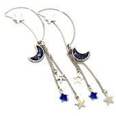Blue Half Moon Earrings