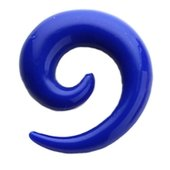 Blue UV Spiral Ear Stretcher