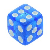 Blue UV Threaded Dice