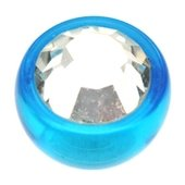 Blue UV Threaded Jewel Ball