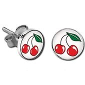 Earrings - Picture Cherries
