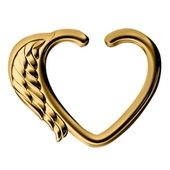 Gold Plated Open Heart Seamless Ring