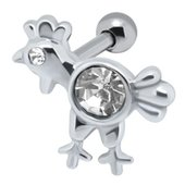 Jeweled Ear Piercing Bar - Chicken