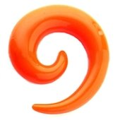 Orange UV Spiral Ear Stretcher