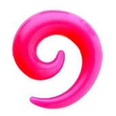 Pink UV Spiral Ear Stretcher