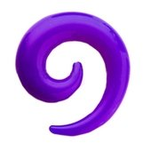 Purple UV Spiral Ear Stretcher