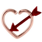 Rose Gold Open Heart Continuous Ring - Cupids Arrow