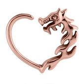 Rose Gold Open Heart Continuous Ring - Left Dragon