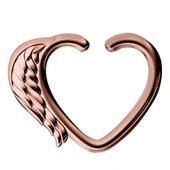 Rose Gold Open Heart Seamless Ring