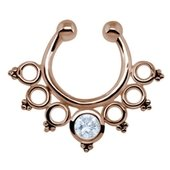 Rose Gold  Silver Nipple Ring