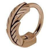 Rose Gold Surgical Steel Helix Ring