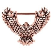 Rose Gold Surgical Steel Nipple Shield - Eagle