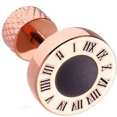 Rose Gold Tragus Barbell - Roman Clock Button