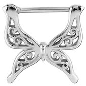 Surgical Steel Butterfly Nipple Clicker Ring