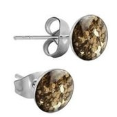 Surgical Steel Glitterline Ear Studs - Golden Shadow