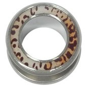 Surgical Steel Halo Flesh Tunnel - Leopard Print