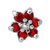 Surgical Steel Jeweled Flower Accessory