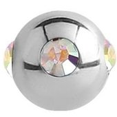Surgical Steel Jewelled Satellite Micro Ball - Crystal AB