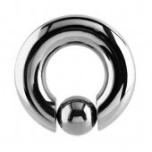 Titanium Captive Bead Ring With Pop Out Ball