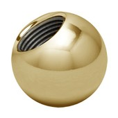 Zircon Gold Threaded Ball 14 ga