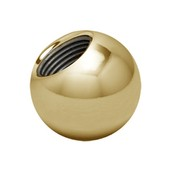Zircon Gold Threaded Ball 16 ga