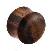 Black Rosewood Double Flared Plug