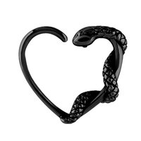 Blackline Open Heart Continuous Ring - Left Snake