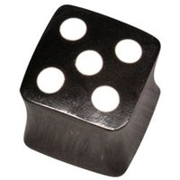 Buffalo Flesh Plug - Square Dice Horn Plug