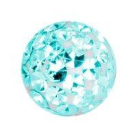 Crystal Cluster Ball - Blue Zircon