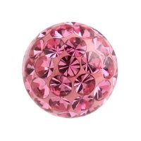 Crystal Cluster Ball - Pink