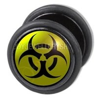 Fake Ear Plug - Biohazard
