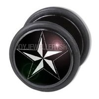 Fake Ear Plug - Nautical Star