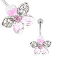 Flower Belly Ring (Pink Tropical)