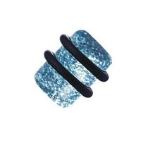 Glitter Acrylic Flesh Plug - Light Blue
