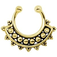 Gold Plated Silver Nipple Ring