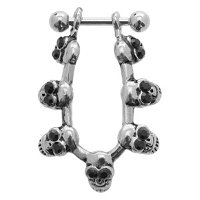 Helix Ear Cuff - Black Jeweled Skulls
