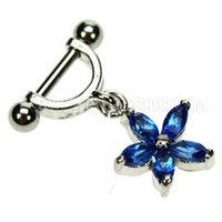 Helix Piercing Shield - Blue Flower