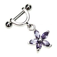 Helix Piercing Shield - Purple Flower