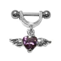 Helix Piercing Shield - Purple Winged Heart
