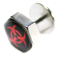 Hexagon Fake Flesh Plug - Biohazard