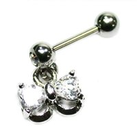 Jeweled Helix Barbell - Bow