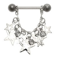 Jeweled Star Nipple Shield - Clear