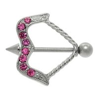 Jeweled Arrow Nipple Shield - Pink