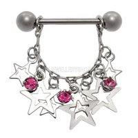 Jeweled Star Nipple Shield - Pink