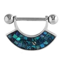 Mother Of Pearl Nipple Shield - Mosaic Blue Zircon