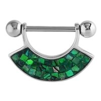 Mother Of Pearl Nipple Shield - Mosaic Green